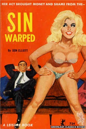 Leisure Books LB657 - Sin Warped by Don Elliott, cover art by Unknown (1964)