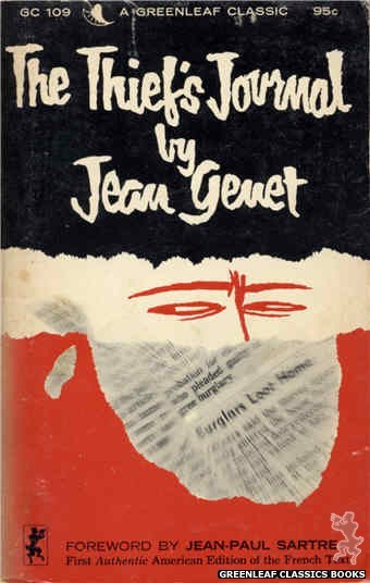 Greenleaf Classics GC109 - The Thief's Journal by Jean Genet, cover art by Unknown (1965)