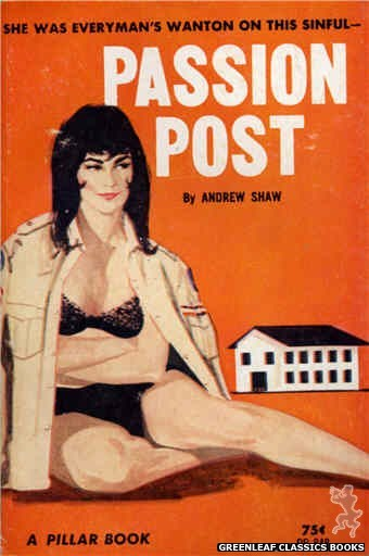 Pillar Books PB848 - Passion Post by Andrew Shaw, cover art by Unknown (1964)