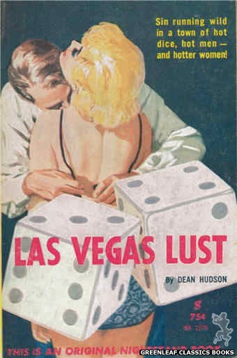 Nightstand Books NB1579 - Las Vegas Lust by Dean Hudson, cover art by Harold W. McCauley (1961)