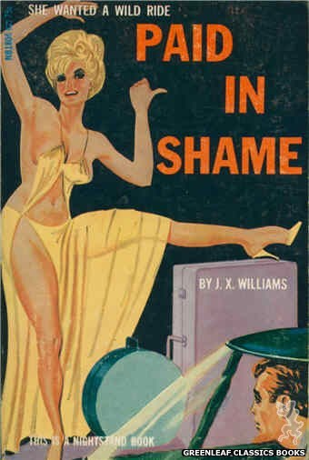 Nightstand Books NB1804 - Paid In Shame by J.X. Williams, cover art by Tomas Cannizarro (1966)