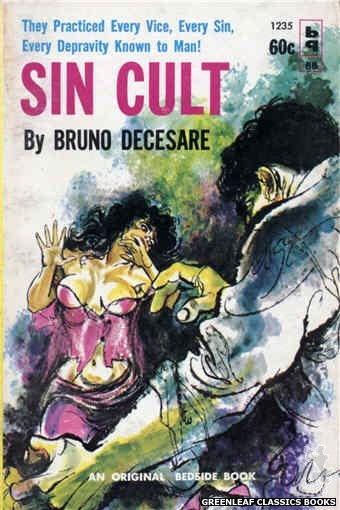 Bedside Books BB 1235 - Sin Cult by Bruno Decesare, cover art by Unknown (1962)
