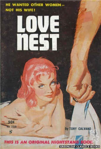 Nightstand Books NB1559 - Love Nest by Tony Calvano, cover art by Harold W. McCauley (1961)