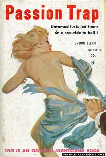 Nightstand Books NB1521 - Passion Trap by Don Elliott, cover art by Harold W. McCauley (1960)