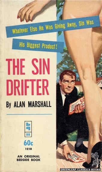 Bedside Books BB 1218 - The Sin Drifter by Alan Marshall, cover art by Harold W. McCauley (1962)
