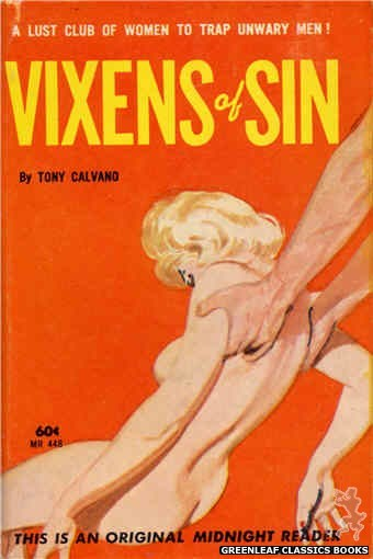 Midnight Reader 1961 MR448 - Vixens of Sin by Tony Calvano, cover art by Unknown (1962)