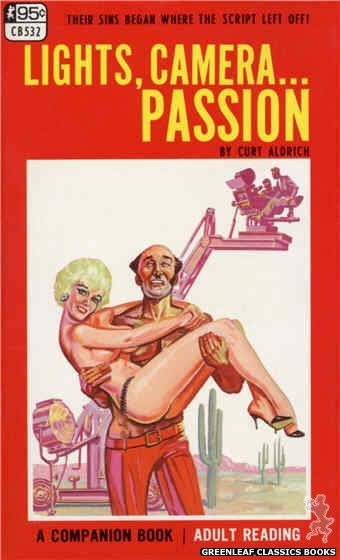Companion Books CB532 - Lights, Camera....Passion by Curt Aldrich, cover art by Tomas Cannizarro (1967)
