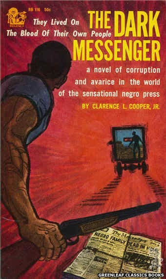 Regency Books RB116 - The Dark Messenger by Clarence L. Cooper Jr., cover art by Richard A. Thompson (1962)