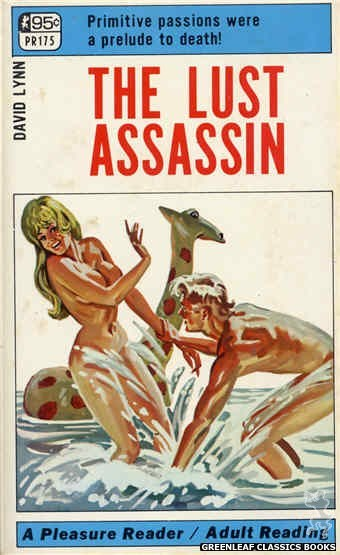 Pleasure Reader PR175 - The Lust Assassin by David Lynn, cover art by Tomas Cannizarro (1968)