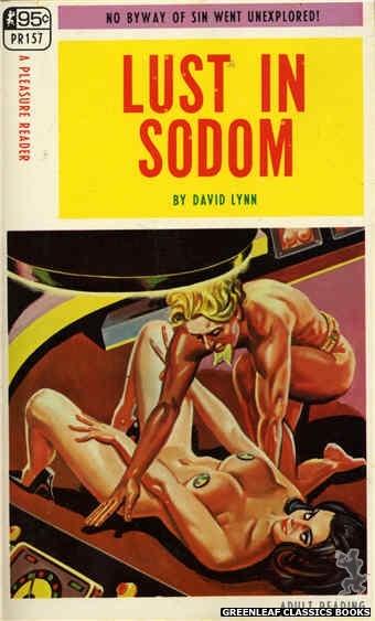 Pleasure Reader PR157 - Lust In Sodom by David Lynn, cover art by Tomas Cannizarro (1968)