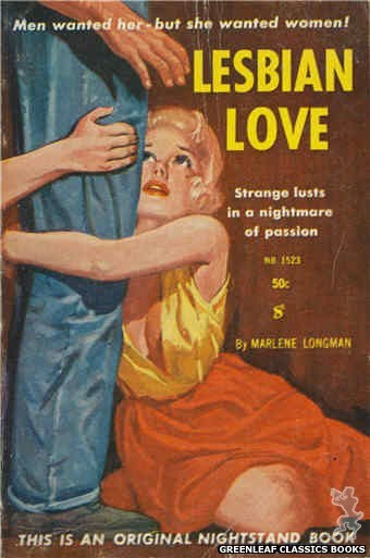 Nightstand Books NB1523 - Lesbian Love by Marlene Longman, cover art by Harold W. McCauley (1960)