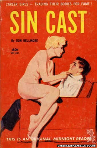Midnight Reader 1961 MR445 - Sin Cast by Don Bellmore, cover art by Unknown (1962)