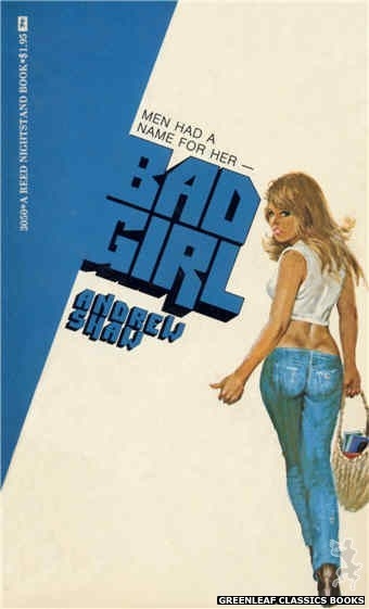 Reed Nightstand 3050 - Bad Girl by Andrew Shaw, cover art by Robert Bonfils (1973)