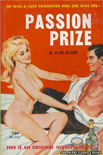 Nightstand Books NB1632 - Passion Prize by Clyde Allison, cover art by Robert Bonfils (1962)