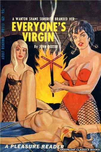 Pleasure Reader PR113 - Everyone's Virgin by John Dexter, cover art by Ed Smith (1967)