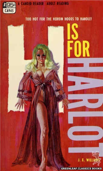 Candid Reader CA945 - H is for Harlot by J.X. Williams, cover art by Robert Bonfils (1968)