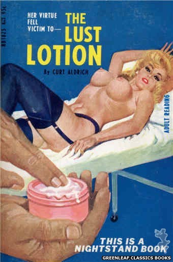 Nightstand Books NB1825 - The Lust Lotion by Curt Aldrich, cover art by Robert Bonfils (1967)