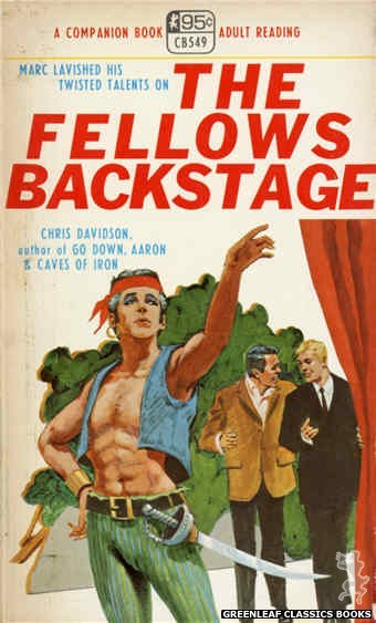 Companion Books CB549 - The Fellows Backstage by Chris Davidson, cover art by Darrel Millsap (1968)