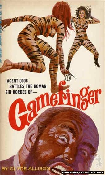 Ember Library EL 321 - Gamefinger by Clyde Allison, cover art by Robert Bonfils (1966)