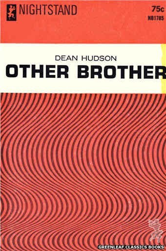 Nightstand Books NB1785 - Other Brother by Dean Hudson, cover art by Text + Design Only (1966)