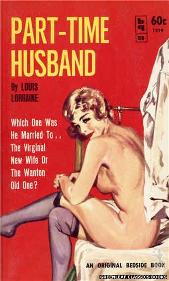 Bedside Books BB 1219 - Part-Time Husband by Louis Lorraine, cover art by Harold W. McCauley (1962)