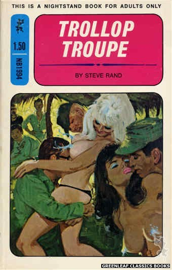 Nightstand Books NB1994 - Trollop Troupe by Steve Rand, cover art by Robert Bonfils (1970)