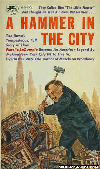 Regency Books RB304 - A Hammer In The City by Paul B. Weston, cover art by Richard A. Thompson (1962)