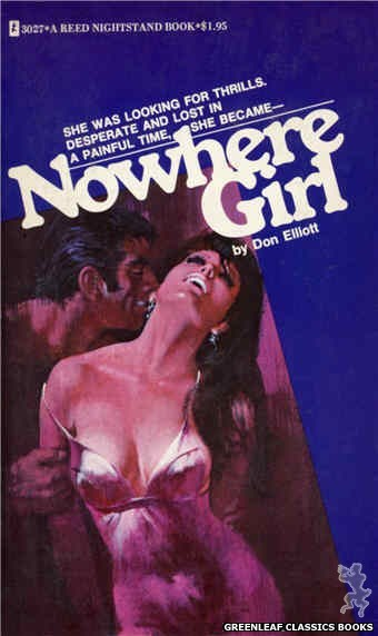 Reed Nightstand 3027 - Nowhere Girl by Don Elliott, cover art by Robert Bonfils (1973)