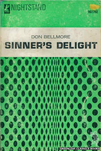 Nightstand Books NB1792 - Sinner's Delight by Don Bellmore, cover art by Text + Design Only (1966)