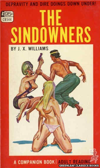 Companion Books CB544 - The Sindowners by J.X. Williams, cover art by Tomas Cannizarro (1967)