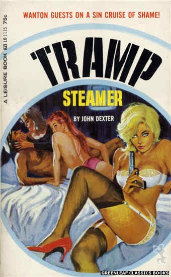 Leisure Books LB1115 - Tramp Steamer by John Dexter, cover art by Robert Bonfils (1965)