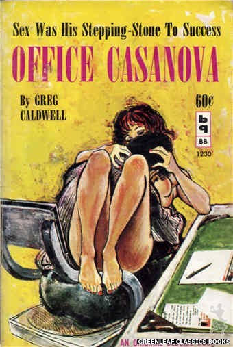 Bedside Books BB 1230 - Office Casanova by Greg Caldwell, cover art by Unknown (1962)