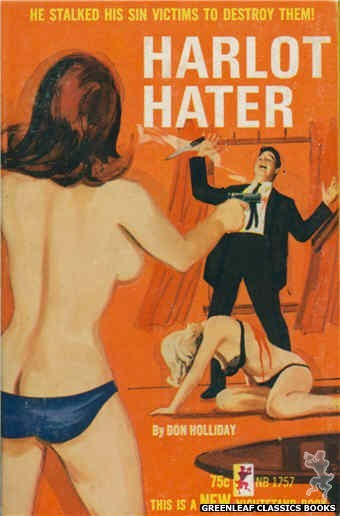 Nightstand Books NB1757 - Harlot Hater by Don Holliday, cover art by Unknown (1965)