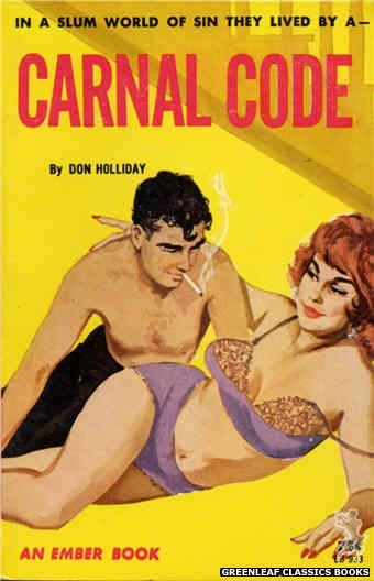 Ember Books EB933 - Carnal Code by Don Holliday, cover art by Unknown (1964)