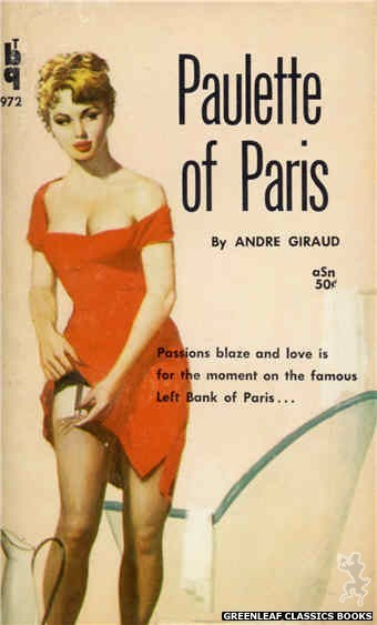 Bedside Books BTB 972 - Paulette of Paris by Andre Giraud, cover art by Unknown (1960)