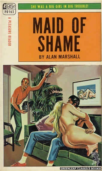 Pleasure Reader PR163 - Maid Of Shame by Alan Marshall, cover art by Tomas Cannizarro (1968)