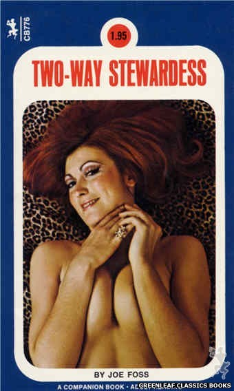 Companion Books CB776 - Two-Way Stewardess by Joe Foss, cover art by Photo Cover (1972)