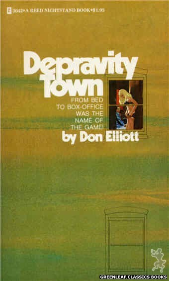 Reed Nightstand 3042 - Depravity Town by Don Elliott, cover art by Robert Bonfils (1973)