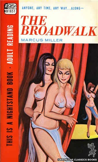 Nightstand Books NB1851 - The Broadwalk by Marcus Miller, cover art by Unknown (1967)