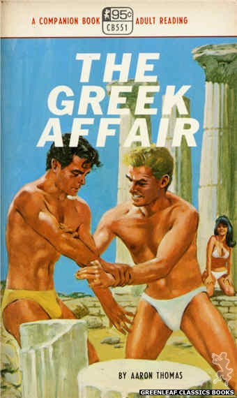 Companion Books CB551 - The Greek Affair by Aaron Thomas, cover art by Darrel Millsap (1968)