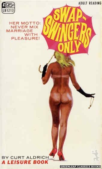 Leisure Books LB1213 - Swap-Swingers Only by Curt Aldrich, cover art by Robert Bonfils (1967)