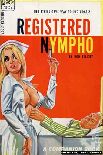 Companion Books CB524 - Registered Nympho by Don Elliott, cover art by Tomas Cannizarro (1967)
