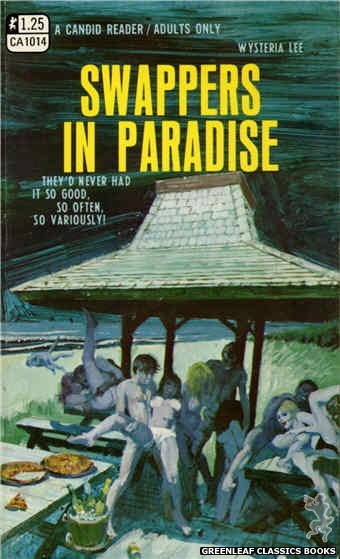 Candid Reader CA1014 - Swappers In Paradise by Wysteria Lee, cover art by Robert Bonfils (1970)