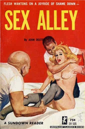 Sundown Reader SR535 - Sex Alley by John Dexter, cover art by Unknown (1965)