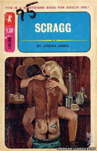 Nightstand Books NB1991 - Scragg by Jordan James, cover art by Robert Bonfils (1970)