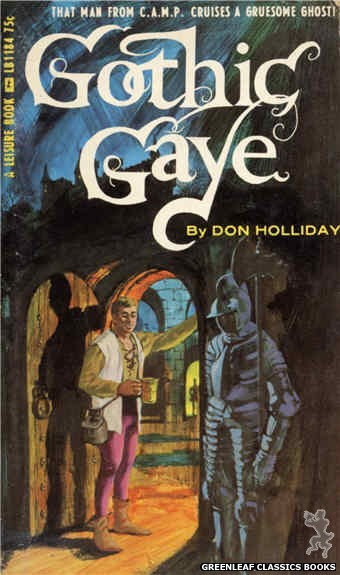 Leisure Books LB1184 - Gothic Gaye by Don Holliday, cover art by Darrel Millsap (1966)