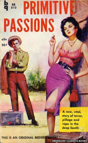 Bedside Books BB 810 - Primitive Passions by Joe McDow, cover art by Unknown (1959)