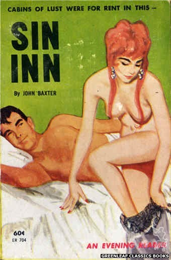 Evening Reader ER704 - Sin Inn by John Baxter, cover art by Unknown (1963)