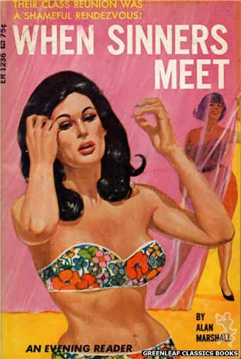 Evening Reader ER1236 - When Sinners Meet by Alan Marshall, cover art by Darrel Millsap (1966)