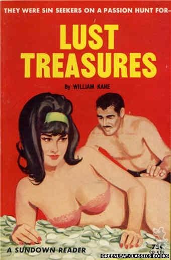 Sundown Reader SR513 - Lust Treasures by William Kane, cover art by Unknown (1964)